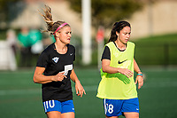 Boston, MA - Sunday September 10, 2017: Rosie White and Tiffany Weimer during a regular season National Women's Soccer League (NWSL) match between the Boston Breakers and Portland Thorns FC at Jordan Field.