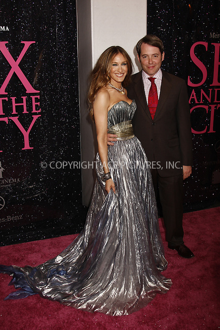WWW.ACEPIXS.COM . . . . .  ....May 27, 2008. New York City.....Actors Sarah Jessica Parker and Matthew Broderick attend the 'Sex and the City' premiere held at Radio City Music Hall.......Please byline: AJ Sokalner - ACEPIXS.COM.... *** ***..Ace Pictures, Inc:  ..Philip Vaughan (646) 769 0430..e-mail: info@acepixs.com..web: http://www.acepixs.com