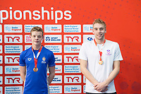 Picture by Allan McKenzie/SWpix.com - 17/12/2017 - Swimming - Swim England Nationals - Swim England National Championships - Ponds Forge International Sports Centre, Sheffield, England - Matthew Richards and Fraser Minnican take bronze in the mens 200m individual medley.