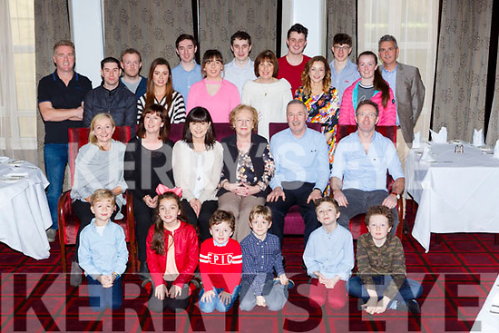 Mary McCarthy, Castleisland celebrated her 80th birthday with her family in the Killarney Park Hotel on Sunday