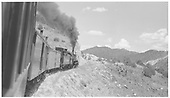 K-28 #476 with a Chili Line mixed climbing Barranca Hill just days before abandonment of the line.<br /> D&amp;RGW  Barranca Hill, NM  Taken by Lunoe, Bob - 8/26/1941