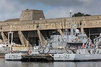 France, Bretagne, (29), Finistère, Brest:   Base Navale et Arsenal de Brest - a base sous-marine de Brest est un immense bunker de la Seconde Guerre mondiale, construit par l'armée allemande