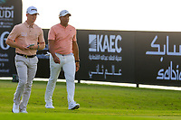 Brandon Stone (RSA) Jonathan Vegas (USA) on the 16th tee during the 1st round of  the Saudi International powered by Softbank Investment Advisers, Royal Greens G&CC, King Abdullah Economic City,  Saudi Arabia. 30/01/2020<br /> Picture: Golffile | Fran Caffrey<br /> <br /> <br /> All photo usage must carry mandatory copyright credit (© Golffile | Fran Caffrey)