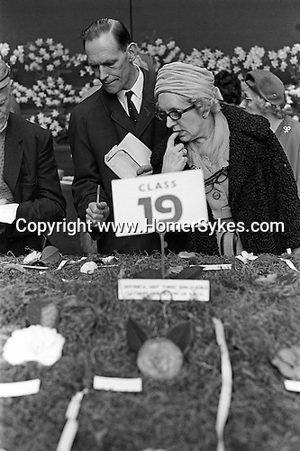 Royal Horticultural society flower show. Victoria, London England. 1968.