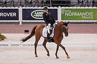 NZL-Anthea Dixon (DONCARTIER) FINAL: PARA-DRESSAGE GRADE II - Team Test: The Alltech FEI World Equestrian Games 2014 In Normandy - France (Tuesday 26 August) CREDIT: Libby Law COPYRIGHT: LIBBY LAW PHOTOGRAPHY - NZL