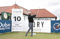 27 May 2015; Darren Clarke tees off at the 10th<br /> <br /> Dubai Duty Free Irish Open Golf Championship 2015, Pro-Am. Royal County Down Golf Club, Co. Down. Picture credit: John Dickson / DICKSONDIGITAL