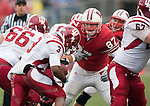 Wisconsin Badgers defensive lineman Ethan Hemer (87) pursues Indiana Hoosiers running back Zach Davis-Walker (3) during an NCAA college football game on November 13, 2010 at Camp Randall Stadium in Madison, Wisconsin. The Badgers won 83-20. (Photo by David Stluka)
