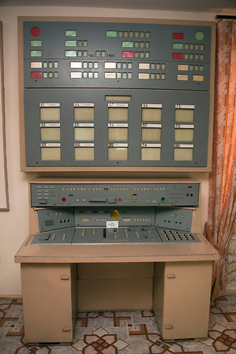 Modell der Kontrollzentrale /  Model of command control equipment