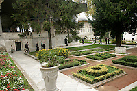 The gardens of the Topkapi Palace, Istanbul, Turkey