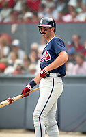 Atlanta Braves Sid Bream during spring training circa 1992 at Chain of Lakes Park in Winter Haven, Florida.  (MJA/Four Seam Images)