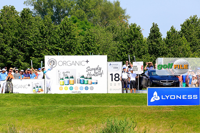 Dylan Frittelli (RSA) in action during the final round of the Lyoness Open powered by Organic+ played at Diamond Country Club, Atzenbrugg, Austria. 8-11 June 2017.<br /> 11/06/2017.<br /> Picture: Golffile | Phil Inglis<br /> <br /> <br /> All photo usage must carry mandatory copyright credit (&copy; Golffile | Phil Inglis)