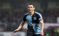 Matt Bloomfield of Wycombe Wanderers during the Sky Bet League 2 match between Wycombe Wanderers and Morecambe at Adams Park, High Wycombe, England on 2 January 2016. Photo by Andy Rowland / PRiME Media Images