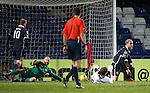Ross County v St Johnstone...05.12.15  SPFL  Dingwall<br /> An own goal by Murray Davidson makes it 2-2<br /> Picture by Graeme Hart.<br /> Copyright Perthshire Picture Agency<br /> Tel: 01738 623350  Mobile: 07990 594431