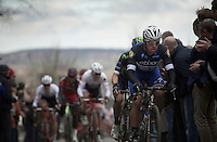 in his first year in the World Tour, prodigy Fernando Gaviria Rendon (COL/Etixx-Quickstep) already does a pretty impressive job over the Oude Kwaremont<br /> <br /> 71st Dwars door Vlaanderen (1.HC)