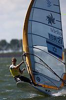 Medemblik - the Netherlands, May 28th 2010. Delta Lloyd Regatta in Medemblik (26/30 May 2010). Day 3. RSX men.