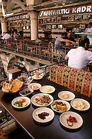 Breakfast at the Hasan Pasha Han, Diyarbakir, southeastern Turkey