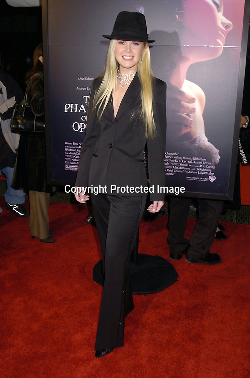 "Crystal Hunt ..at The New York Premiere of ""Phantom of the Opera"" on ..December 12, 2004 at the Ziegfeld Theatre. ..Photo by Robin Platzer, Twin Images"