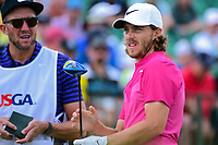 Tommy Fleetwood (ENG) prepares to tee off on 1 during Saturday's round 3 of the 117th U.S. Open, at Erin Hills, Erin, Wisconsin. 6/17/2017.<br /> Picture: Golffile | Ken Murray<br /> <br /> <br /> All photo usage must carry mandatory copyright credit (&copy; Golffile | Ken Murray)