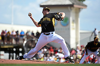 Pittsburgh Pirates pitcher Mark Melancon (35) during a Spring Training game against the Boston Red Sox on March 12, 2015 at McKechnie Field in Bradenton, Florida.  Boston defeated Pittsburgh 5-1.  (Mike Janes/Four Seam Images)