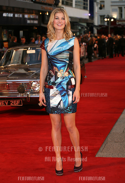 Rosamund Pike arriving for the film premiere of 'Made In Dagenham' at Odeon Leicester Square, London. 20/09/2010  Picture by: Alexandra Glen / Featureflash