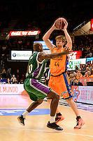 Harangody vs Green<br /> Liga Endesa ACB - 2014/15<br /> J8<br /> Valencia Basket vs Unicaja