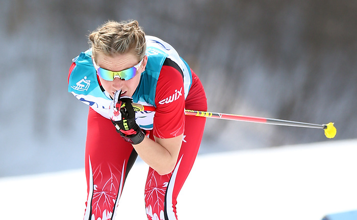 Pyeongchang, Korea, 12/march/2018-Emily Young competes in the women 15km cross country race during the 2018 Paralympic Games in PyeongChang. Photo Scott Grant/Canadian Paralympic Committee.