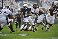 06 October 2012:  Penn State WR Allen Robinson (8) runs up field after a catch. The Penn State Nittany Lions defeated the Northwestern Wildcats 39-28 at Beaver Stadium in State College, PA.