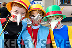 Ned Ryan, Jack Sheehy and Sean Sheehy (Dingle) dressed up for the Féile na Bealtaine parade in Dingle over the weekend.