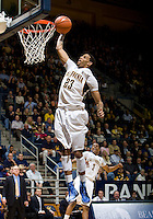 Allen Crabbe of California dunks the ball during the game against UCLA at Haas Pavilion in Berkeley, California on February 14th, 2013.   California defeated UCLA, 77-63.