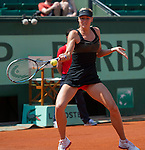 Maria Sharapova (RUS) wins in first round at Roland Garros in Paris, France on May 29, 2012
