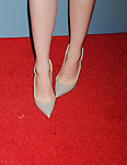 WEST HOLLYWOOD, CA - MAY 27: Actress Emma Stone, shoe detail, at the 'Aloha' Los Angeles premiere at The London Hotel West Hollywood on May 27, 2015 in West Hollywood, California.