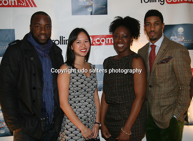Malik Yoba Natalie Woo, Ms. Harris and Fonzworth Bentley  attend the Gillette Fusion Men of Style Awards at The 40/40 Club, NY November 2, 2009, Photos by Derrick Salters