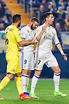 Cristiano Ronaldo (r) of Real Madrid argues with Víctor Ruiz Torre (l) of Villarreal CF during their La Liga match between Villarreal CF and Real Madrid at the Estadio de la Cerámica on 26 February 2017 in Villarreal, Spain. Photo by Maria Jose Segovia Carmona / Power Sport Images