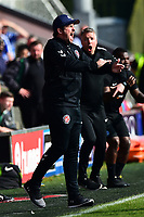Fleetwood Town manager Joey Barton reacts<br /> <br /> Photographer Richard Martin-Roberts/CameraSport<br /> <br /> The EFL Sky Bet League One - Fleetwood Town v Peterborough United - Friday 19th April 2019 - Highbury Stadium - Fleetwood<br /> <br /> World Copyright © 2019 CameraSport. All rights reserved. 43 Linden Ave. Countesthorpe. Leicester. England. LE8 5PG - Tel: +44 (0) 116 277 4147 - admin@camerasport.com - www.camerasport.com