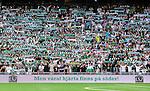 Stockholm 2015-08-09 Fotboll Allsvenskan Hammarby IF - IF Elfsborg :  <br /> Hammarbys supportrar med halsdukar inf&ouml;r matchen mellan Hammarby IF och IF Elfsborg <br /> (Foto: Kenta J&ouml;nsson) Nyckelord:  Fotboll Allsvenskan Tele2 Arena Hammarby HIF Bajen Elfsborg IFE supporter fans publik supporters