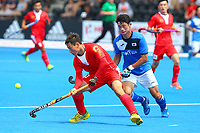 E Liguang of China in action during the Hockey World League Semi-Final Pool A match between China and Korea at the Olympic Park, London, England on 17 June 2017. Photo by Steve McCarthy.