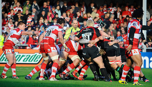 13.11.2010 LV= Cup Round 2 Rugby Union Gloucester v Saracens. Maul in the second half