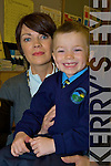 Marc Long with his mother Finola as he started his first day at school in the Two Mile School, Killarney on Monday............