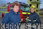 Mark Brady, Station officer Killerney Fire Station, and Mike O'Brien, driver/mechanic, pictured with the stations new EUR300,000 fire engine..