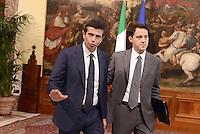 Roma, 28 Aprile 2013.Palazzo Chigi.Primo giorno del Governo Letta..Il Ministro delle infrastrutture e trasporti Maurizio Lupi