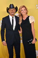 NASHVILLE, TN - NOVEMBER 1: Faith Hill and Tim McGraw arrive on the Macy's Red Carpet at the 46th Annual CMA Awards at the Bridgestone Arena in Nashville, TN on Nov. 1, 2012. © mpi99/MediaPunch Inc. /NortePhoto
