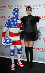 David Kirsch (left) and Schynaider M. G. arrive at Heidi Klum's 18th Annual Halloween Party presented by Party City and SVEDKA Vodka at Magic Hour Rooftop Bar & Lounge at Moxy Times Square, on October 31, 2017.