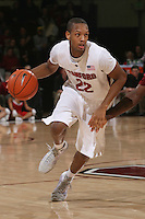 STANFORD, CA - JANUARY 6:  Jarrett Mann of the Stanford Cardinal during Stanford's 54-53 win over the USC Trojans on January 6, 2009 at Maples Pavilion in Stanford, California.