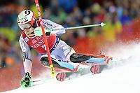 January 8th 2020, Madonna di Campiglio, Italy;  FIS Alpine Ski World Cup Men's Night Slalom in Madonna di Campiglio, Italy on January 8, 2020, Henrik Kristoffersen (NOR)<br />  - Editorial Use