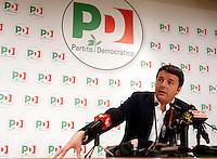 Il segretario del Partito Democratico Matteo Renzi tiene una conferenza stampa nella sede del partito a Roma, 18 gennaio 2014.<br /> Italian center-left Democratic Party's leader Matteo Renzi attends a press conference in the party's headquarters in Rome, 18 January 2014.<br /> UPDATE IMAGES PRESS/Riccardo De Luca