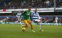Preston North End's Brad Potts and Queens Park Rangers' Joel Lynch<br /> <br /> Photographer Rob Newell/CameraSport<br /> <br /> The EFL Sky Bet Championship - Queens Park Rangers v Preston North End - Saturday 19 January 2019 - Loftus Road - London<br /> <br /> World Copyright &copy; 2019 CameraSport. All rights reserved. 43 Linden Ave. Countesthorpe. Leicester. England. LE8 5PG - Tel: +44 (0) 116 277 4147 - admin@camerasport.com - www.camerasport.com