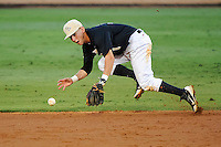 May 18, 2012: UCF infielder Travis Shreve (1) fields a ground ball  during C-USA NCAA baseball game 2 action between the Rice Owls and the Central Florida Knights. Rice tied the series by defeating UCF 9-2 in game 2 of the 3 series at Jay Bergman Field in Orlando, FL