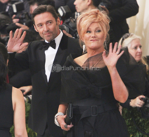 NEW YORK, NY May 01, 2017 Hugh Jackman, Deborra-Lee Furness attend  The Metropolitan Museum of Art Costume Institute Benefit Gala for Rei Kawakubo Comme des Garcons at  Metropolitan Museum of Art  in New York May 01,  2017. Credit:RW/MediaPunch