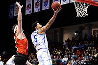 GRONINGEN - Basketbal, Donar - Feyenoord,  beker ,seizoen 2019-2020, 22-01-2020,  overgespeelde bekerwedstrijd, score Donar speler Leon Williams