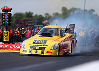 Aug 19, 2017; Brainerd, MN, USA; NHRA funny car driver Bob Bode during qualifying for the Lucas Oil Nationals at Brainerd International Raceway. Mandatory Credit: Mark J. Rebilas-USA TODAY Sports
